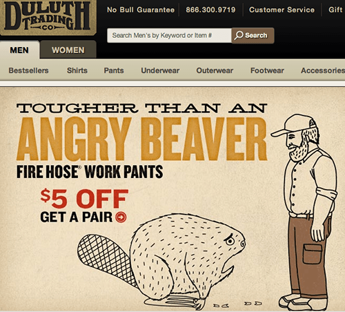 Duluth Trading Company website